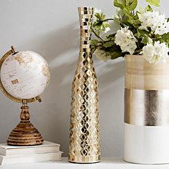 Fluted Gold Mosaic Vase
