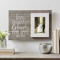 Happily Ever After Wood Plank Picture Frame, 5x7