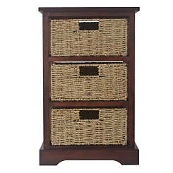 Cherry 3-Basket Storage Chest