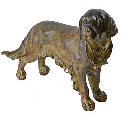 Bronze Golden Retriever Figurine