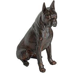 Bronze Boxer Figurine