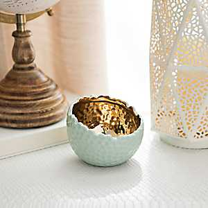 Hammered Ceramic Votive Holder