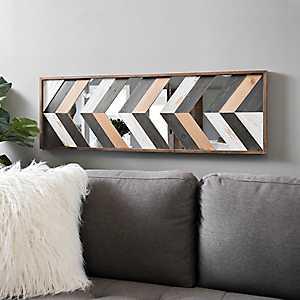 Geometric Wood Plank Art Print