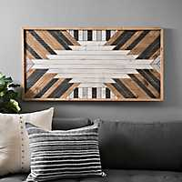 Geometric Multi-Finish Wood Plank Art Print