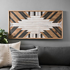 Geometric Multi-Finish Wood Plank Art Print