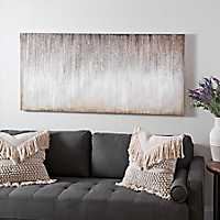 Golden Shimmer Abstract Canvas Art Print