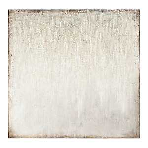 Seafoam Gray Embellished Canvas Art Print