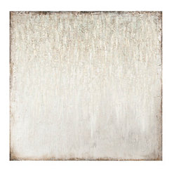 Seafoam Gray Embellished Canvas Art Print
