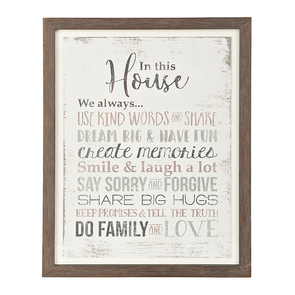 Charmant In This House We Framed Art Print
