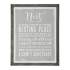 Nest Definition Framed Art Print