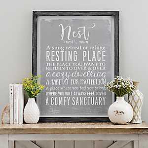 Nest Definition Framed Art Print