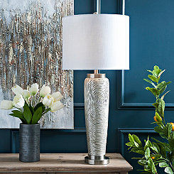 Silver Luxe Ceramic Table Lamp