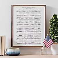 Star Spangled Banner Lyrics Framed Art Print