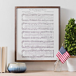 Star Spangled Banner Lyrics Framed Art Print