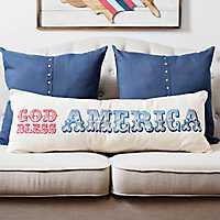 God Bless America Bench Pillow