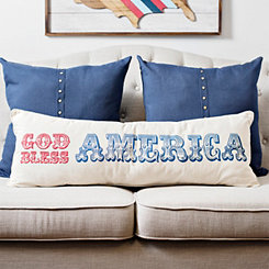 God Bless America Bench Pillow