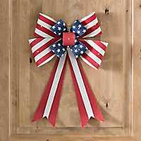 Pre-Lit Patriotic Bow