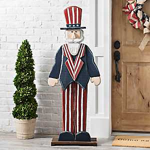 Wooden Uncle Sam Statue, 57 in.