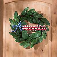 Carved Wood America Wall Plaque