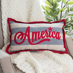 America Stripe Accent Pillow