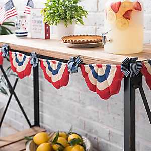 Blue Bow Bunting Banner