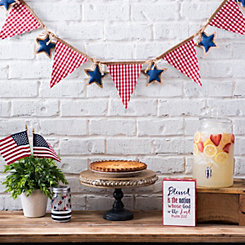 Red, White, and Stars Banner