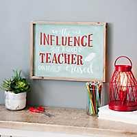 Influence of a Good Teacher Wall Plaque