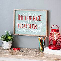 Influence of a Good Teacher Wall Plaque