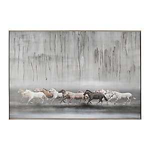 Free Horse Framed Canvas Art Print