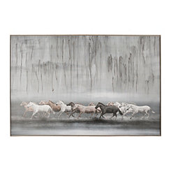 Free Horse Framed Canvas Art Print