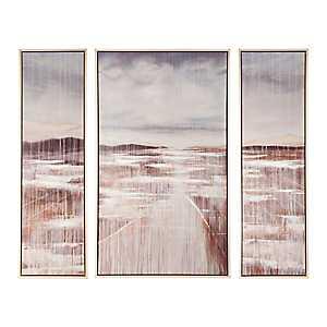 Cedar Lake Framed Canvas Art Prints, Set of 3