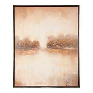 Rustic Abstract Scene Framed Canvas Art Print