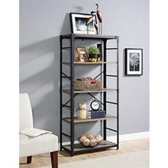 Driftwood Angle Iron Bookshelf