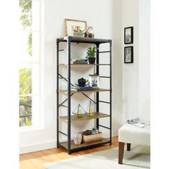 Barnwood Angle Iron Bookshelf