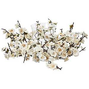 White Plum Blossom Candle Holder