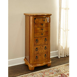 Distressed Oak Paislee Jewelry Armoire