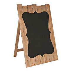 Wood Plank Quatrefoil Chalkboard