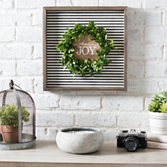 Choose Joy Wreath Wood Plaque
