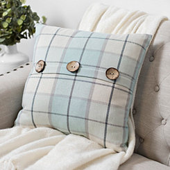 Raven Harbor Gray Plaid Pillow