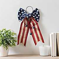 Stars and Stripes Burlap Bow