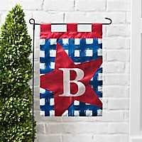 Blue Check Monogram B Flag Set