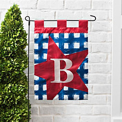 Blue Check Monogram B Flag Set