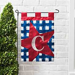 Blue Check Monogram C Flag Set