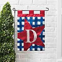 Blue Check Monogram D Flag Set