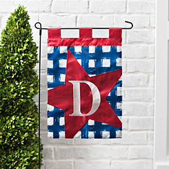 Blue Check Monogram D Flag Set