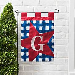 Blue Check Monogram G Flag Set