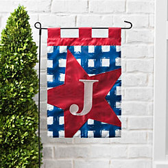 Blue Check Monogram J Flag Set