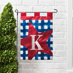 Blue Check Monogram Flag Sets