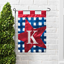 Blue Check Monogram K Flag Set