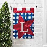 Blue Check Monogram L Flag Set